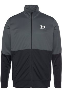 under armour trainingsjack ua pique track jacket grijs