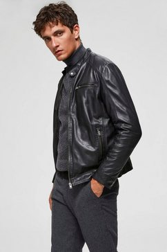selected homme leren jack »classic leather jacket« zwart
