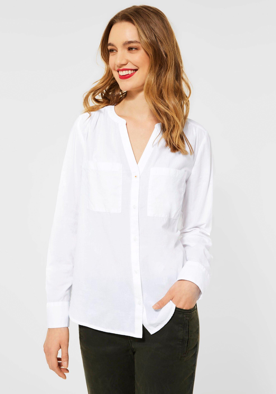 STREET ONE blouse met lange mouwen York met borstzakken in de webshop van OTTO kopen