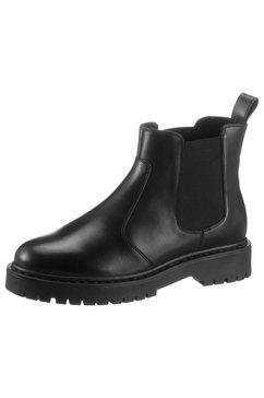 geox chelsea-boots d bleyze met stretchinzet zwart
