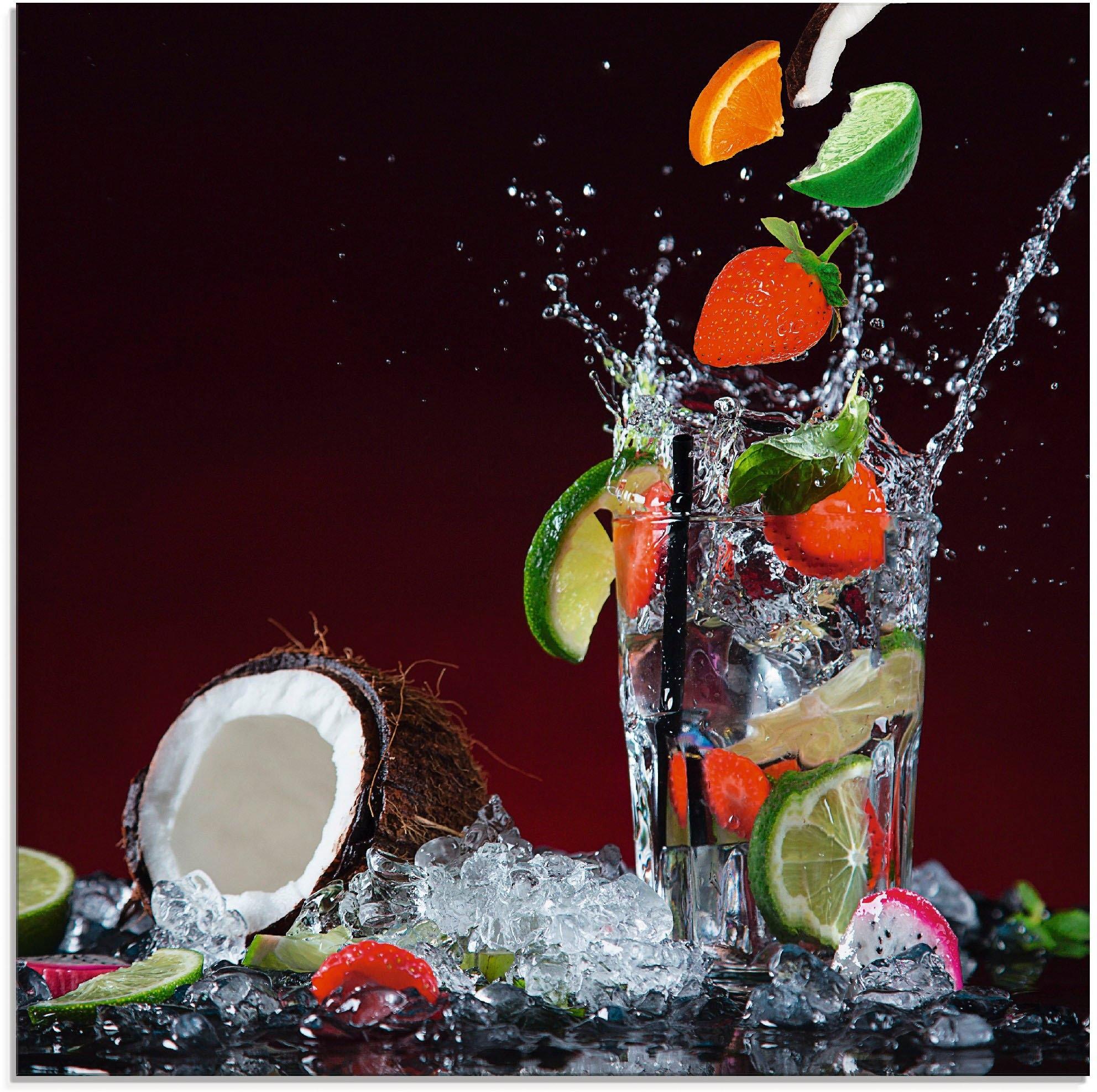 Artland print op glas Verse fruitcocktail V (1 stuk) goedkoop op otto.nl kopen