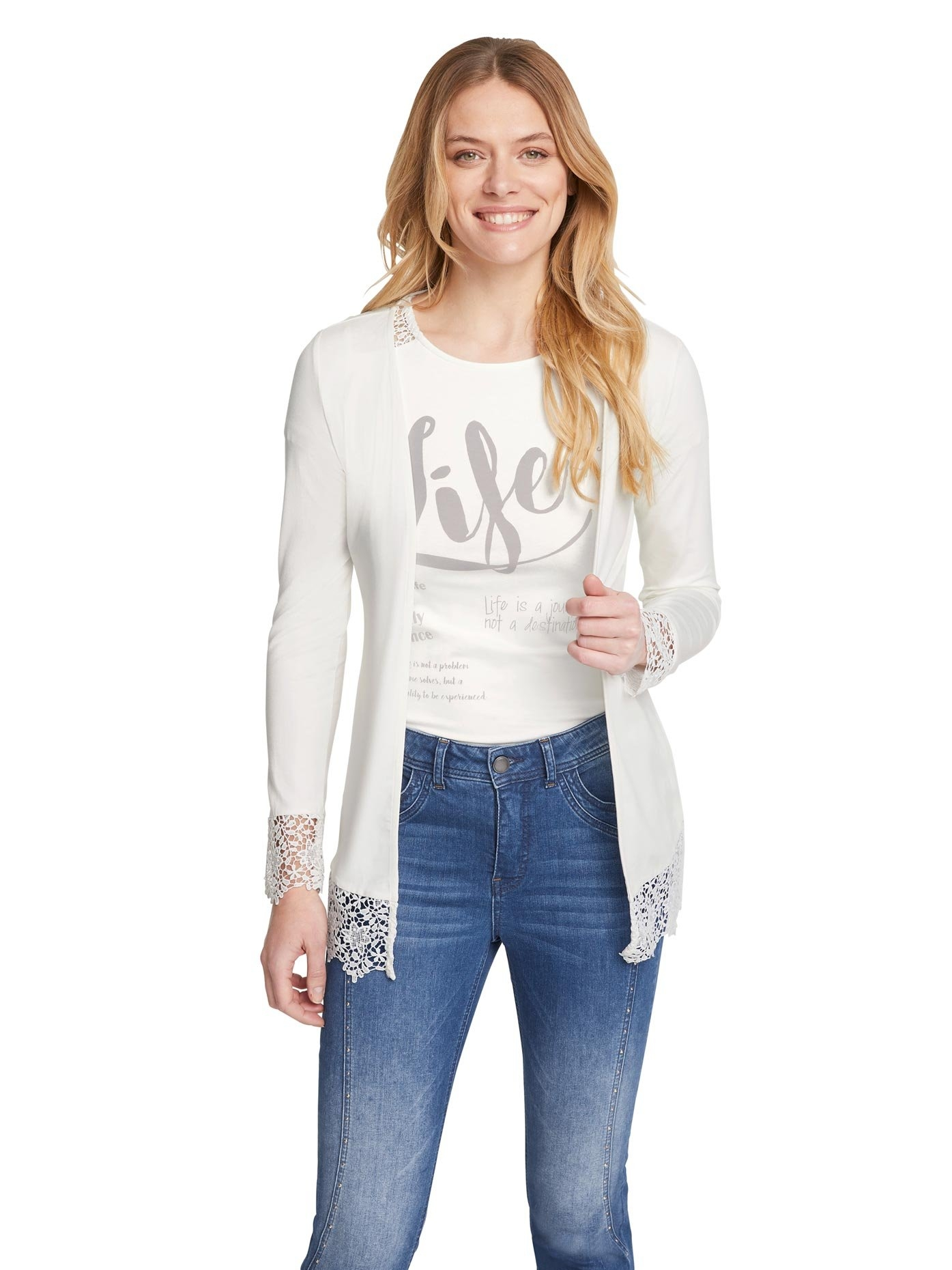 LINEA TESINI by Heine gebreide trui Shirt-twinset bij OTTO online kopen