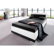 bed, imitatieleer, in 4 verschillende uitvoeringen, made in germany zwart