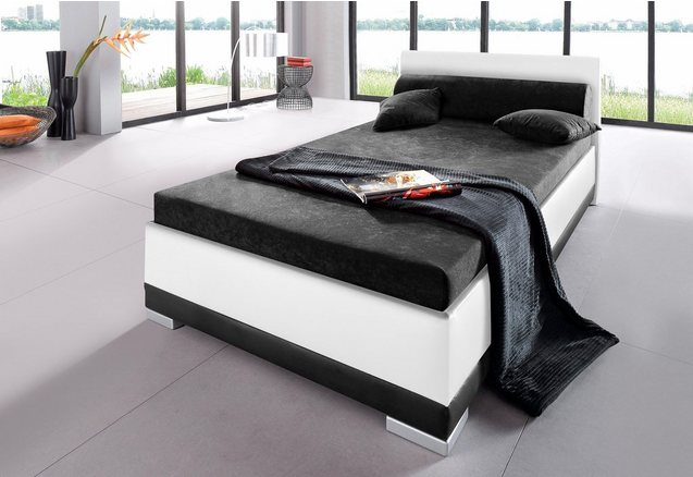 Bed, imitatieleer, in 4 verschillende uitvoeringen, Made in Germany