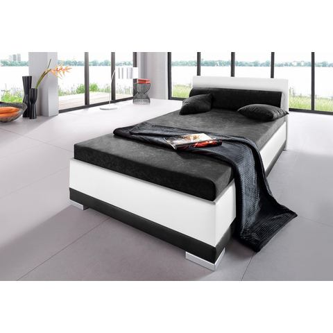 Bed imitatieleer in 4 verschillende uitvoeringen Made in Germany Bedframe zwart Maintal 416058