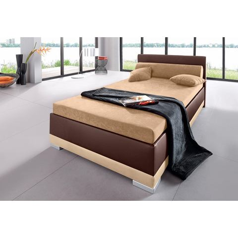 Bed imitatieleer in 4 verschillende uitvoeringen Made in Germany koudschuim H3 5 zones bruin Maintal 519939