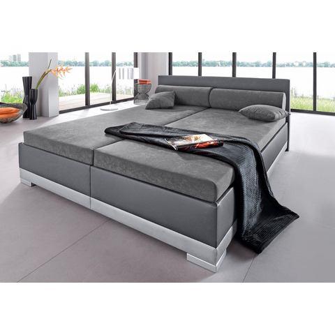 Bed imitatieleer in 4 verschillende uitvoeringen Made in Germany koudschuim H2 5 zones grijs Maintal 481538