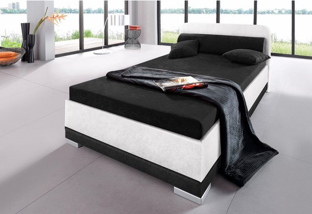 Bed, micro-velours, in 4 verschillende uitvoeringen, Made in Germany
