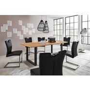 premium collection by home affaire eettafel »brooklyn«, van massief wildeiken beige