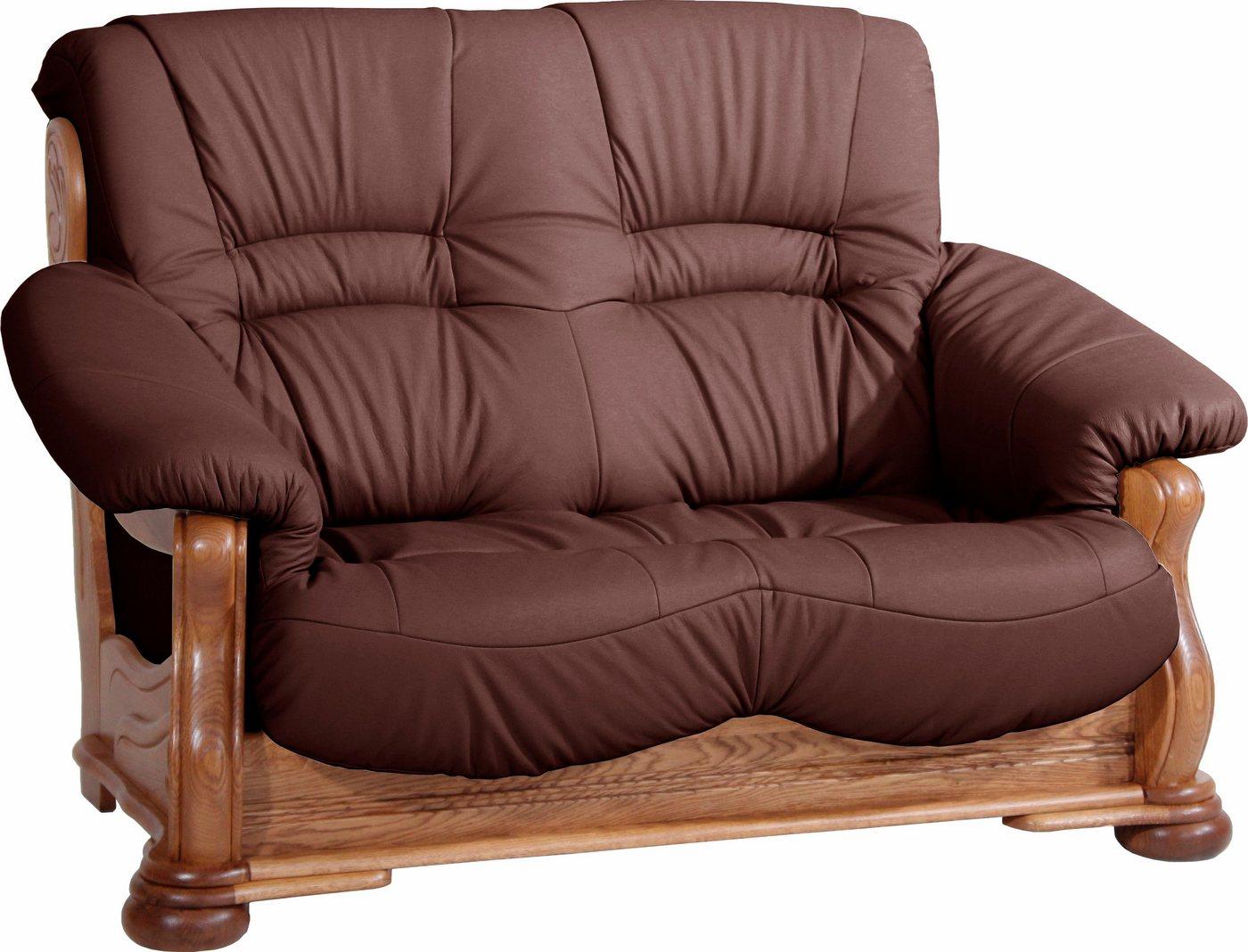 MAX WINZER® 2-zitsbank Texas, met decoratief houten onderstel, breedte 147 cm