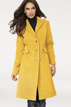 wollen mantel geel