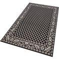 bougari vloerkleed royal sisal-look, geschikt voor binnen en buiten, woonkamer zwart