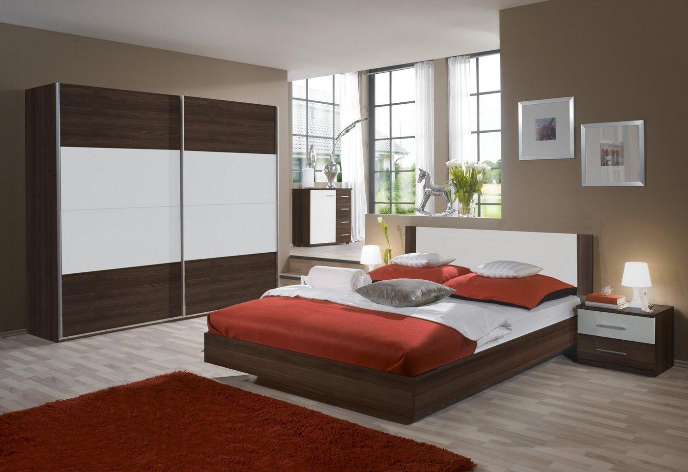 Wimex slaapkamerserie met zweefdeurkast (4-dlg.)
