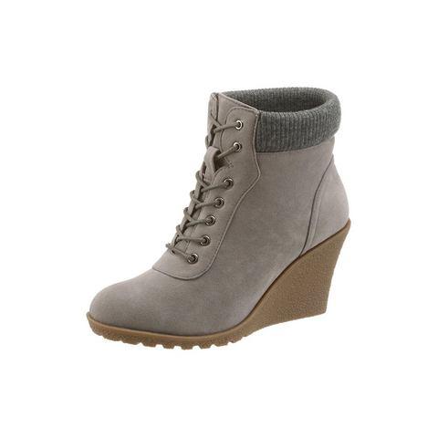 Dames schoen: BUFFALO laarsjes met sleehak