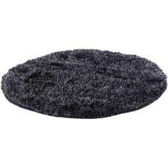 hoogpolig vloerkleed, rond, b.b home passion, »emotion«, hoogte ca. 40 mm, handgetuft grijs