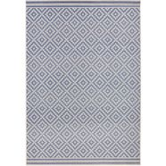 vloerkleed, bougari, »ruiten«, geschikt voor binnen en buiten, geweven blauw