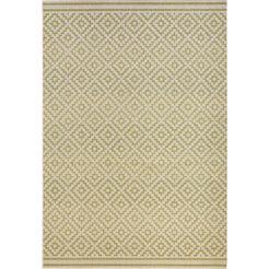vloerkleed, bougari, »ruiten«, geschikt voor binnen en buiten, geweven groen