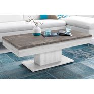 inosign salontafel met bergruimte, verschuifbaar tafelblad wit