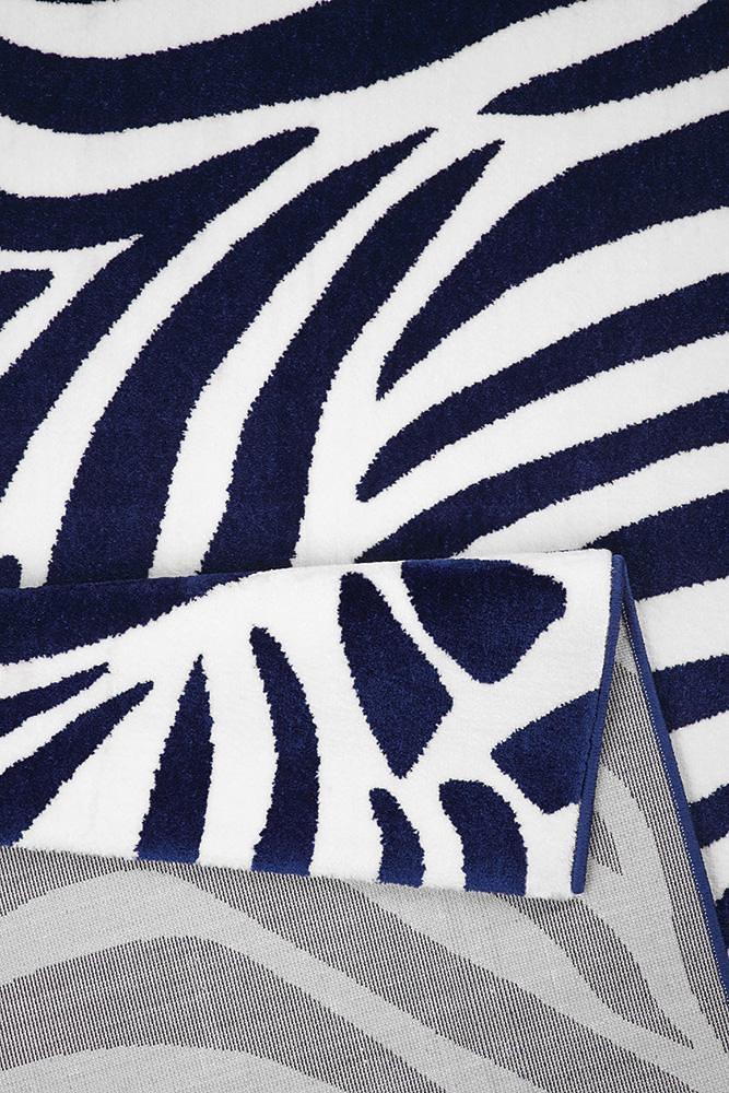 Image of: Zebra Texture Vloerkleed Wecon Home zebra Animalprint Blauw Otto Vloerkleed Wecon Home zebra Animalprint Online Bestellen Otto