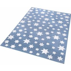 kindervloerkleed, wecon home, »jeans star« blauw