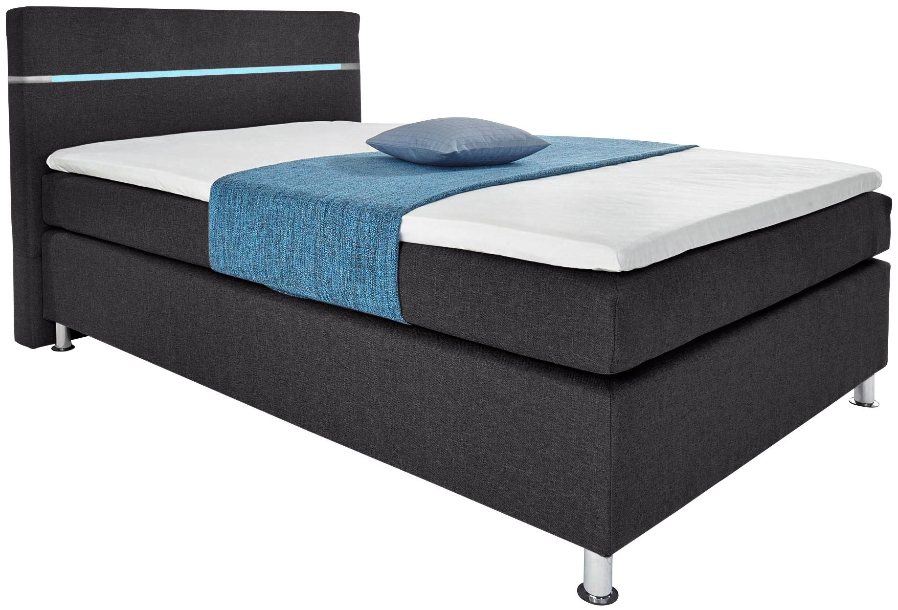 hapo boxspring met led rgb verlichting snel online gekocht. Black Bedroom Furniture Sets. Home Design Ideas