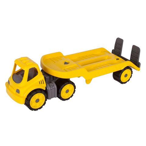 BIG speelgoedauto met draaibare laadvloer, »BIG Power Worker Mini Transporter geel«