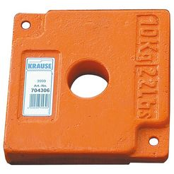 krause ballastgewicht »10 kg«, 10 kg oranje