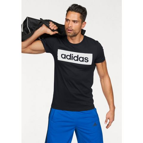 Fitness T-shirt Lineage voor heren zwart