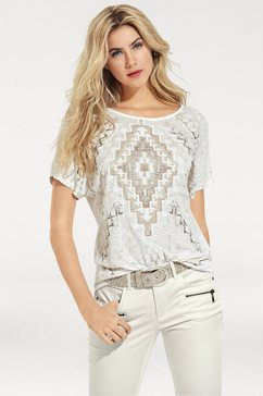 shirt met ronde hals wit