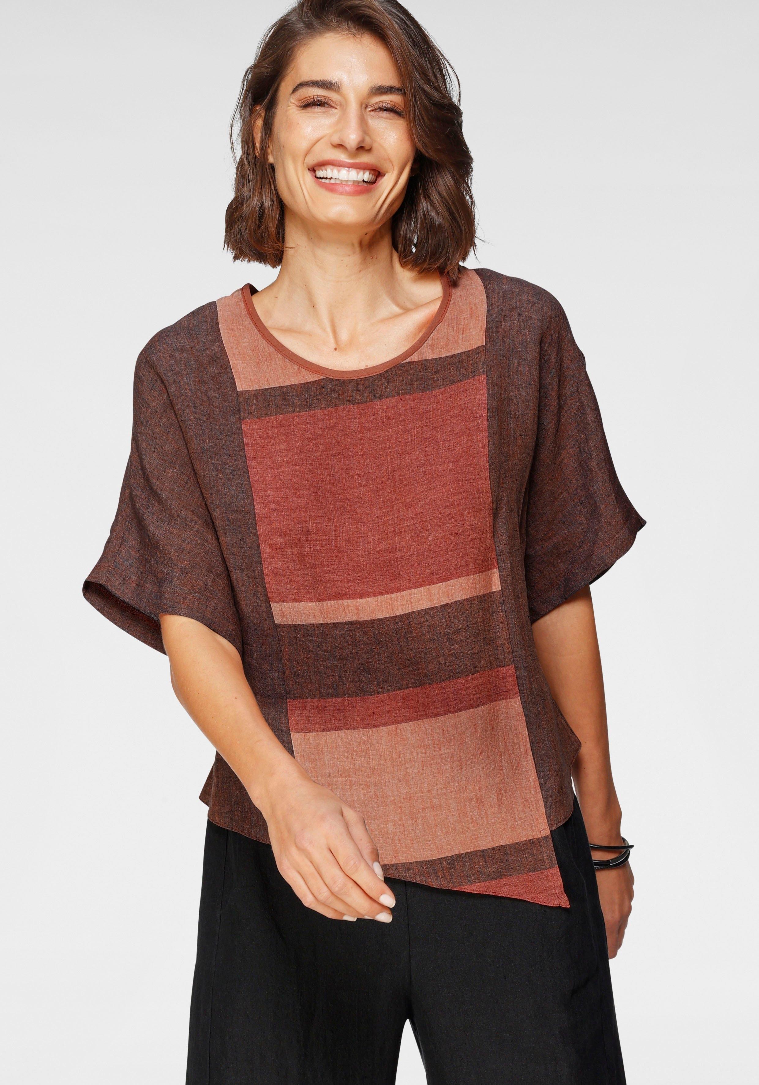 SAMMER Berlin blouse zonder sluiting wijd en kort model, motievenmix voordelig en veilig online kopen