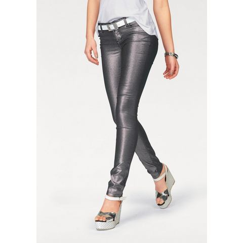 MELROSE Skinny-jeans in metallic-look