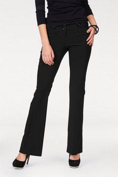 melrose pantalon in bootcut-vorm zwart