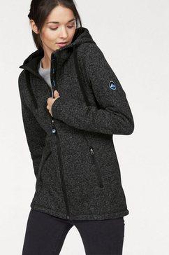 polarino fleece-jack met hoog te sluiten kraag grijs