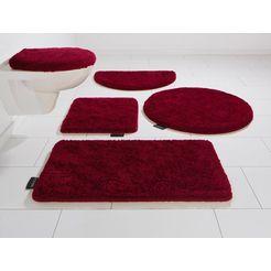 badmat »lana«, bruno banani, hoogte 25 mm, met antislip-coating, geschikt voor vloerverwarming rood