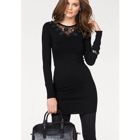 Picture MELROSE Tricot-jurk met kanten inzet zwart 651511