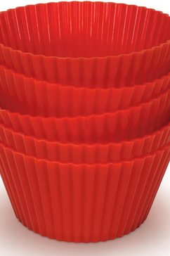 silicone-muffinvormpje HD9909/00, set van 5, rood, accessoire voor Airfryer