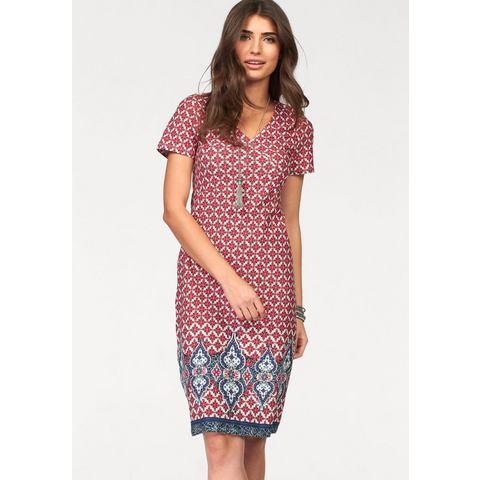 Picture BOYSEN'S Jersey-jurk met allover-print rood 304023