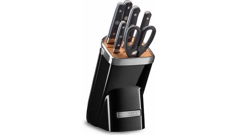 kitchenaid messenblok kkfma07ob 7 delige set zwart snel. Black Bedroom Furniture Sets. Home Design Ideas