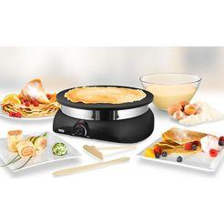 unold crêpemaker profi 48155, 1250 watt, ø 33 cm zwart