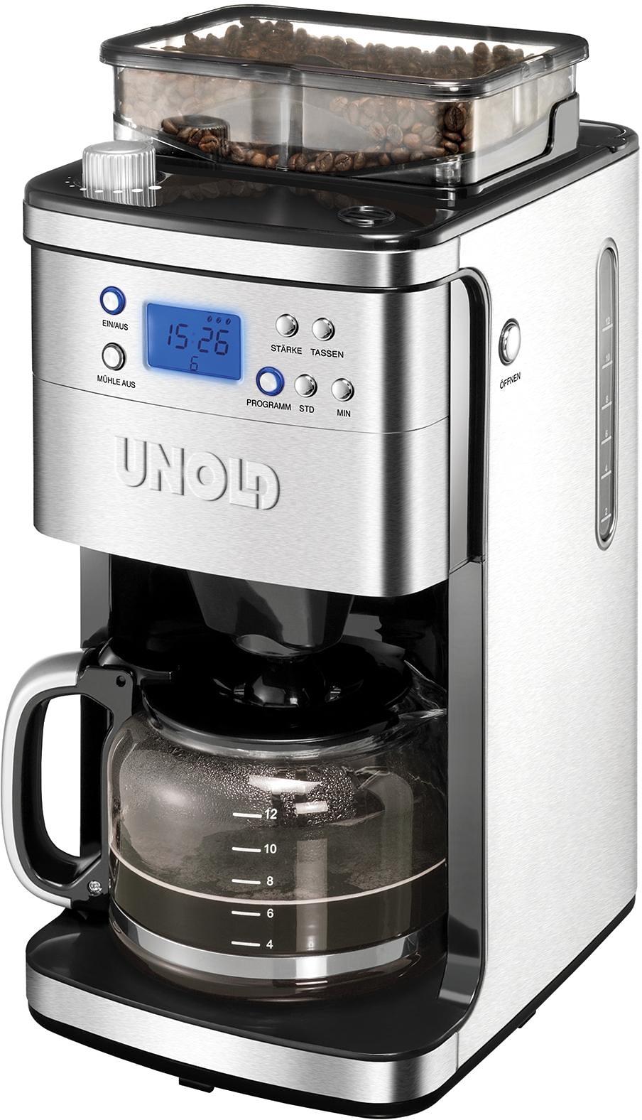 Op zoek naar een Unold koffiezetapparaat met maalwerk 28736 molen, 1,5 l-kan, permanente filter 1x4? Koop online bij OTTO