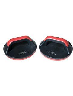 christopeit sport push-upsteunen, zwart-rood zwart