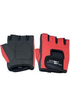 christopeit sport fitnesshandschoenen, rood-zwart zwart