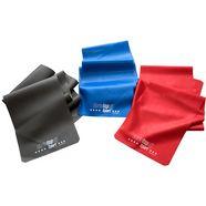 christopeit sport gymnastiekband in set van 3, grijs-rood-blauw grijs