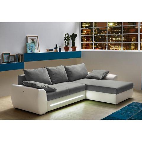 Hoekbank met slaapfunctie, chaise longue links/rechts