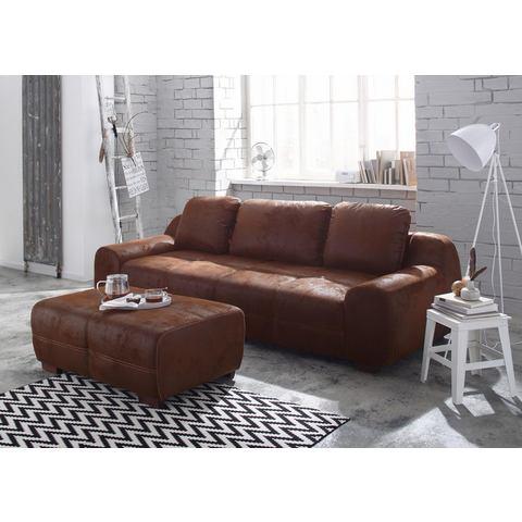 woonkamer extra groot bankstel bruin HOME AFFAIRE megabank Banderas ook met slaapfunctie 13
