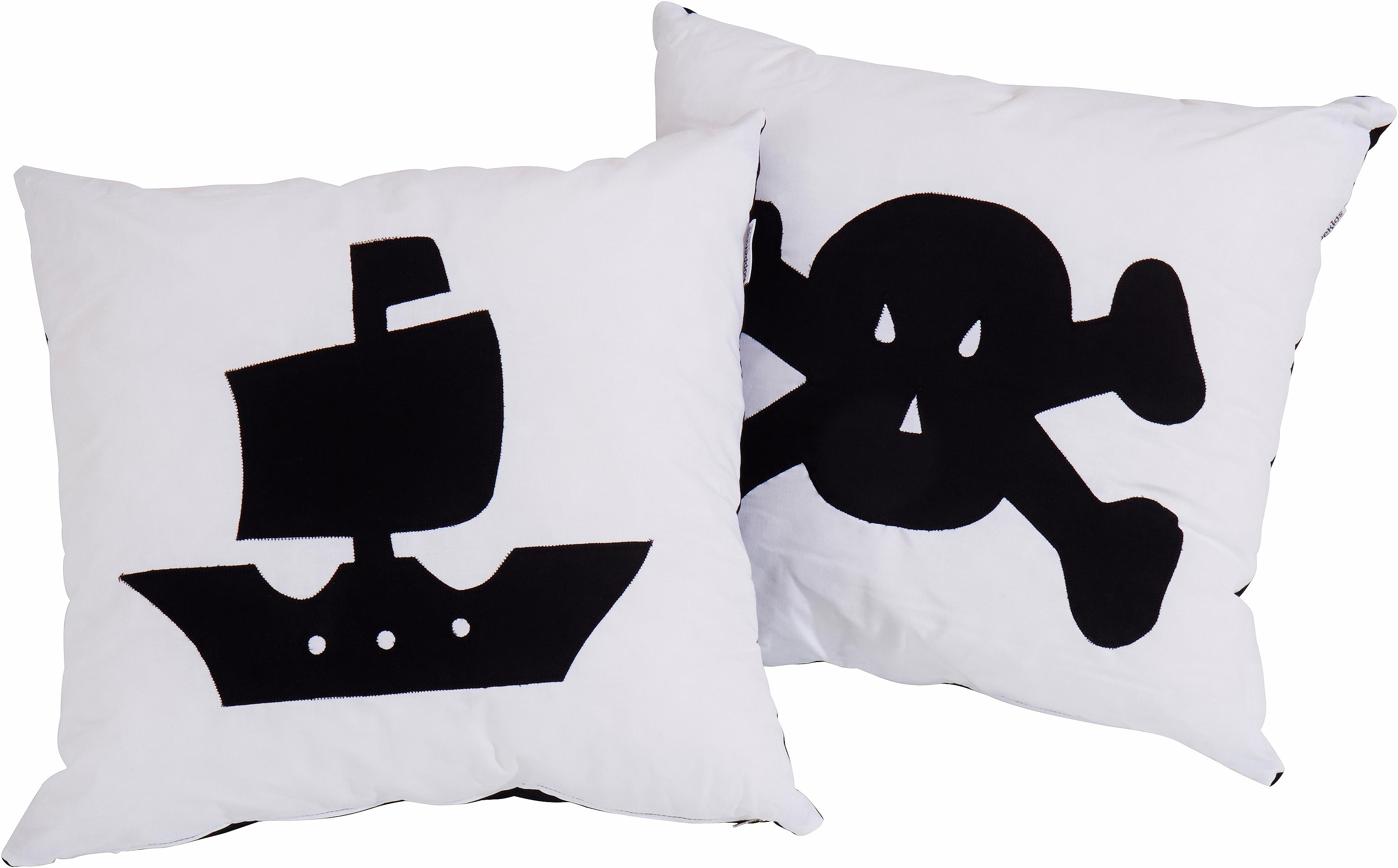 hoppekids gordijnset piraat4 dlg zwart