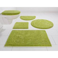 badmat »maren«, home affaire, hoogte 15 mm, met antislip-coating, geschikt voor vloerverwarming groen