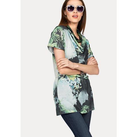 BRUNO BANANI Shirt-tuniek met cascadehals