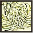 artland artprint vertrouw op je ziel (1 stuk) groen