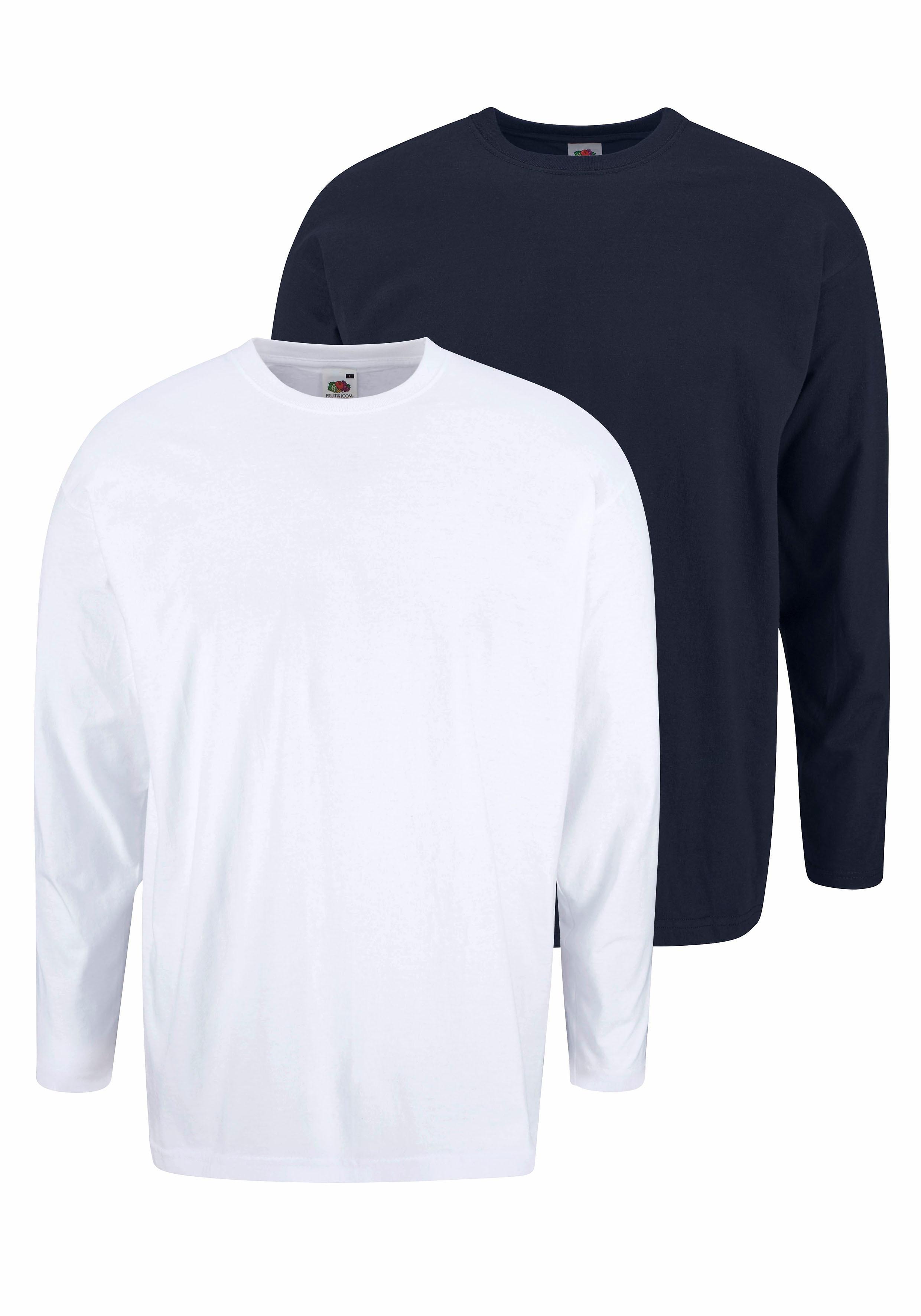Fruit Of The Loom shirt met lange mouwen in set van 2 nu online bestellen